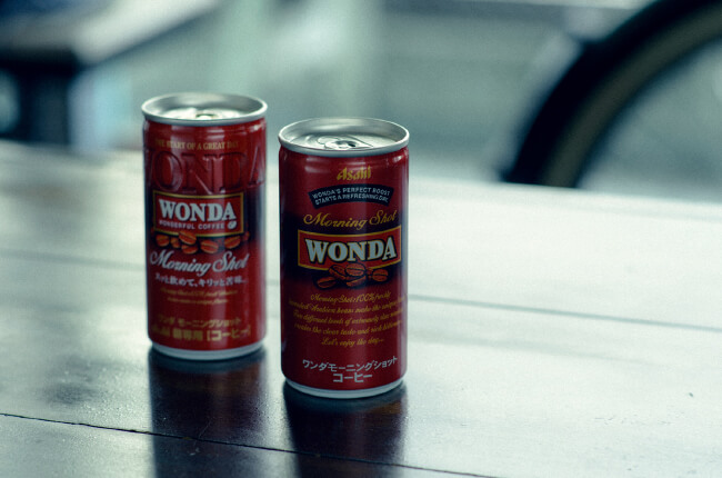 WONDA MORNING SHOTのパッケージデザイン