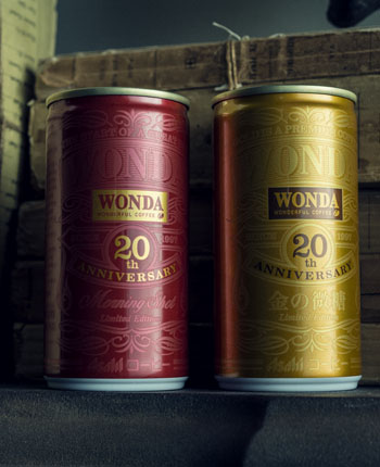 WONDA 20th ANNIVERSARYのパッケージデザイン